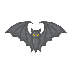 bat filled outline icon halloween and scary vector image