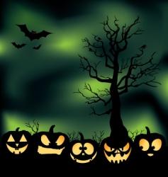 cloudy pumpkin patch vector image vector image
