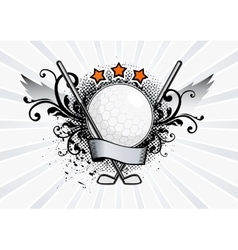 Golf Emblem vector image vector image
