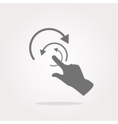 hand and abstract arrow web app button web icon vector image