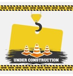 under construction cone traffic warming sign vector image