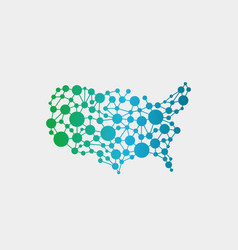 usa united states network map graphic vector image vector image