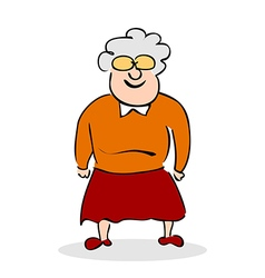 Funny elderly lady with glasses vector image vector image