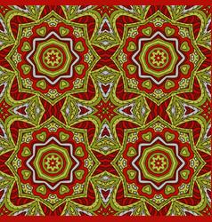 mandala doodle drawing colorful floral seamless vector image