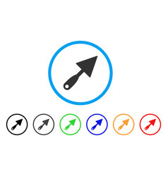 trowel rounded icon vector image vector image