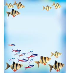 Aquarium background vector image