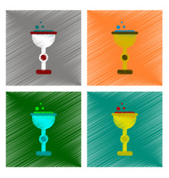 Assembly flat shading style icon cup potion vector