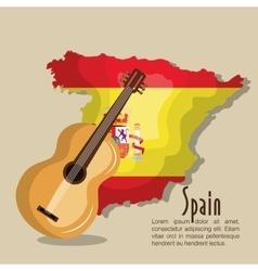 flag spain music design vector image