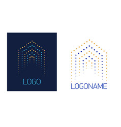 logo house of dots vector image