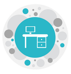 of office symbol on work table vector image