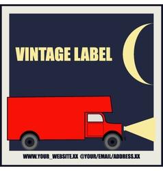 Overnight Delivery Van Vintage Label vector image vector image