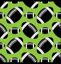 seamless pattern - black american football balls vector image vector image