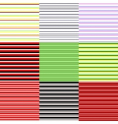 set of horizontal patterns vector image vector image