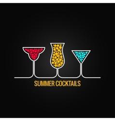 summer cocktails menu background vector image