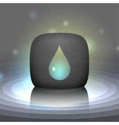 White shining drop icon vector image vector image
