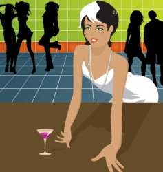 woman in dance club vector image vector image