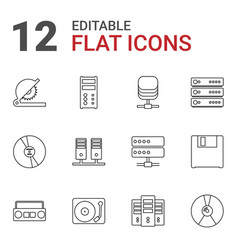 12 disk icons vector