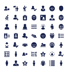 49 user icons vector