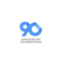 90 years anniversary celebration logo icon vector