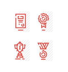 a set icons on a theme sport the winners cup vector image