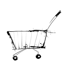 A view of cart vector