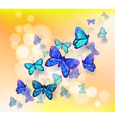 A wallpaper design with butterflies vector