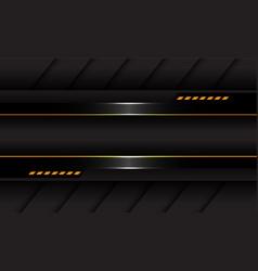 Abstract dark grey metallic yellow light cyber vector