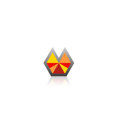 abstract shape triangle colored logo vector image