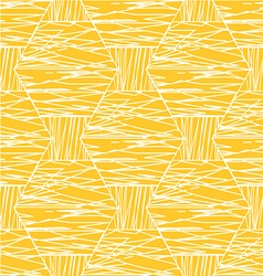 Abstract white orange linear hexagonal pattern vector image