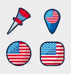 American buttons to encourage spirit of vector