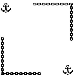 Anchor and chain frame 1401 vector
