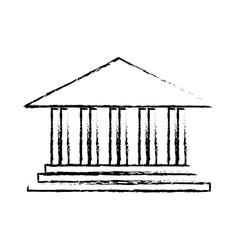 ancient greek building icon image vector image