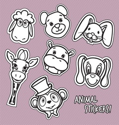 animal stickers1 vector image