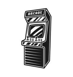 Arcade retro video game machine object vector