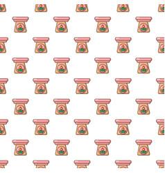 Aromatic lamp pattern seamless vector