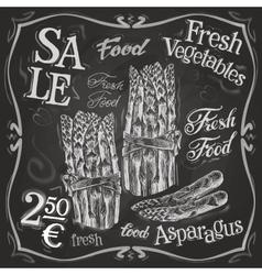 Asparagus logo design template fresh vector