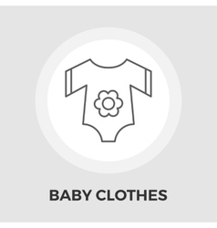 Baby Clothes Flat Icon vector