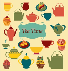 Background of Tea Time vector image