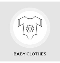 Baclothes flat icon vector