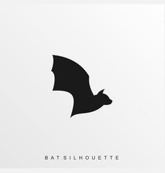 Bat black flaying template vector