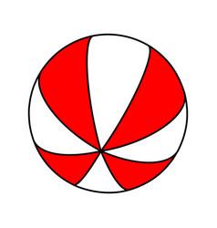beach ball symbol icon design vector image
