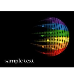black background with multicolored round equalizer vector image