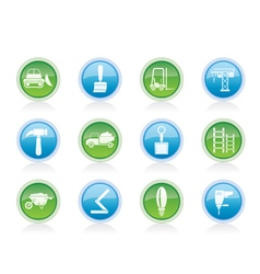 Building and construction equipment icons vector