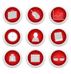 Business button set vector