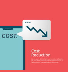 Business finance crisis concept cost reduction vector