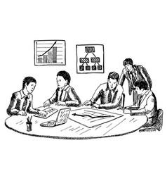 business planning or workshop concept hand vector image