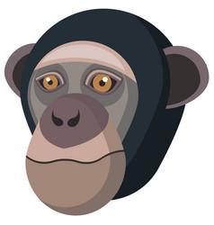Chimpanzee portrait made in unique simple cartoon vector