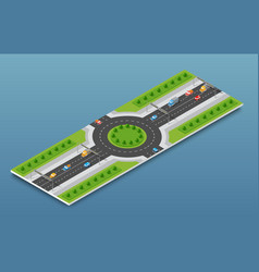 city isometric freeway vector image