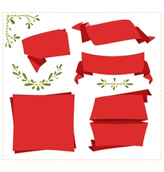 Collection paper origami banner vector