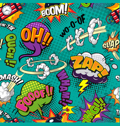 comic bright seamless pattern vector image